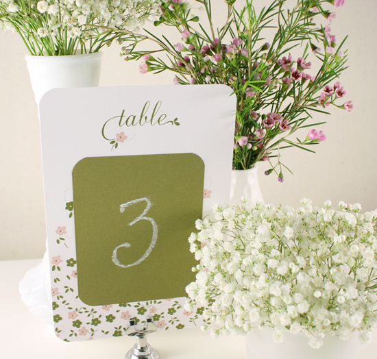 """DIY project: """"Chalkboard"""" Table Number Cards"""