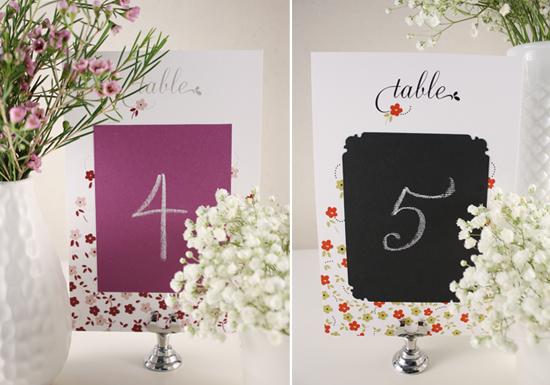 Wedding DIY - Table Numbers