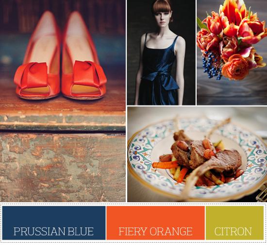 prussian blue color palette
