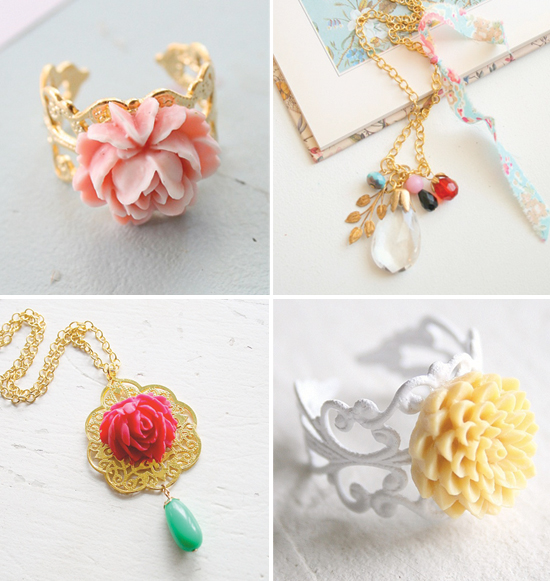 handmade necklaces and rings