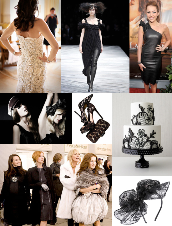 fashion trends: leather and lace