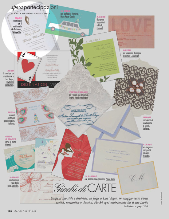 Betsywhite Stationery featured in Elle Italy