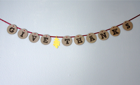 craft idea: thanksgiving garland