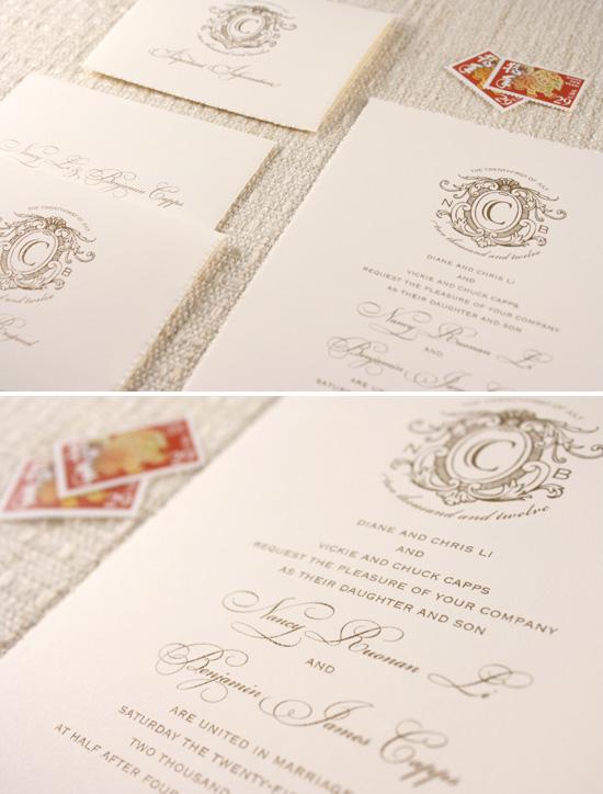 california wedding, wedding invitations, elegant wedding