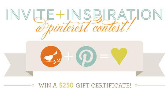 Invite + Inspiration: A Pinterest Contest
