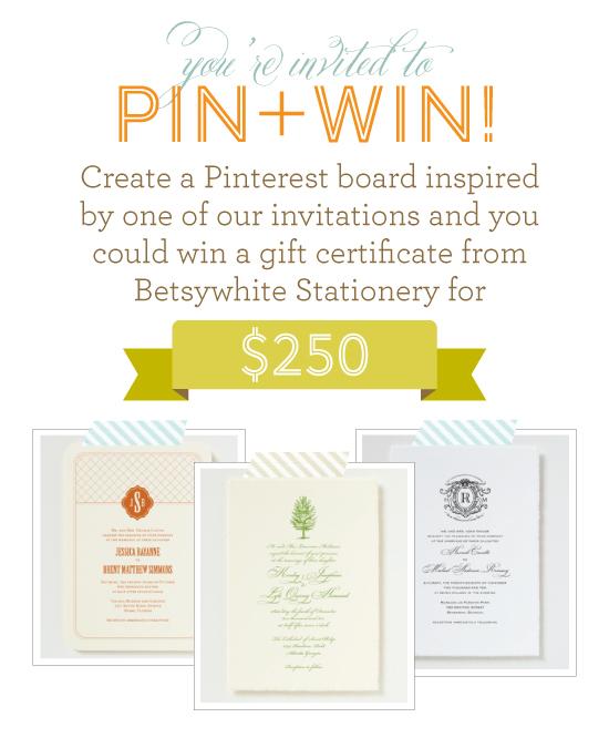 Invite + Inspiration Pinterest Contest
