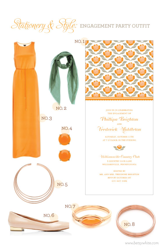 Stationery & Style: Engagement Party Outfit