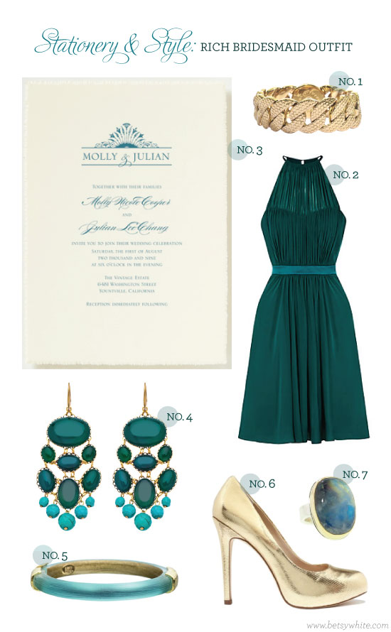Stationery & Style: Rich Bridesmaid Outfit