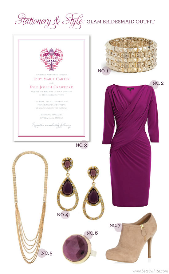 Stationery & Style: Glam Bridesmaid Outfit