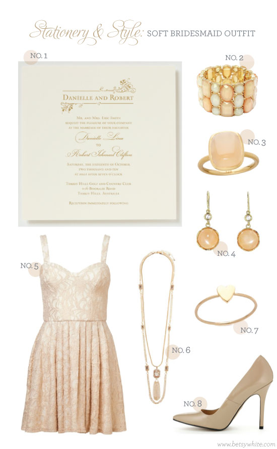 stationery and style: soft bridesmaid outfit
