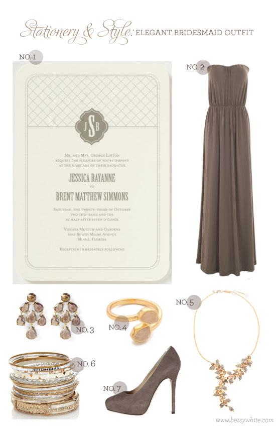 Stationery & Style: Elegant Bridesmaid Outift