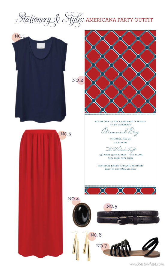 Stationery & Style: Americana Party Outfit