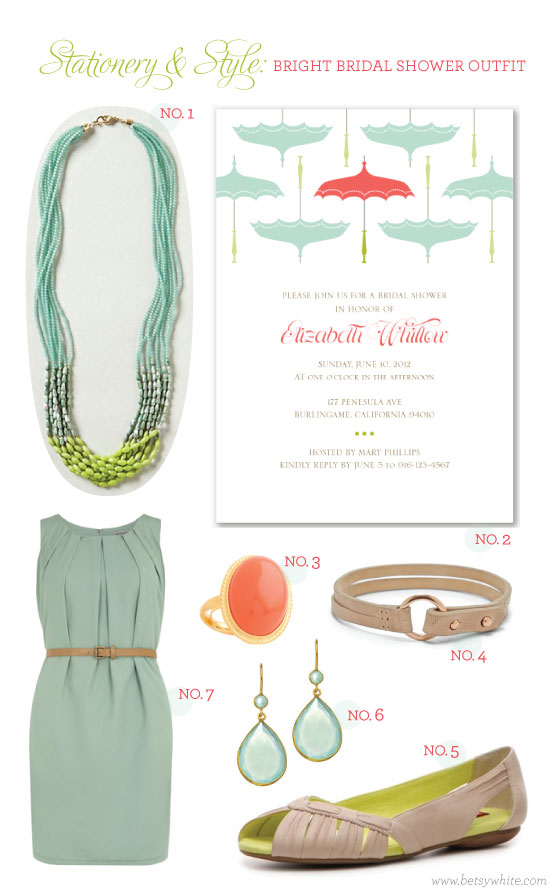 Stationery & Style: Bright Bridal Shower Outfit
