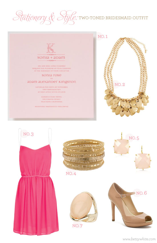 Stationery & Style: Two-toned Bridesmaid Outfit