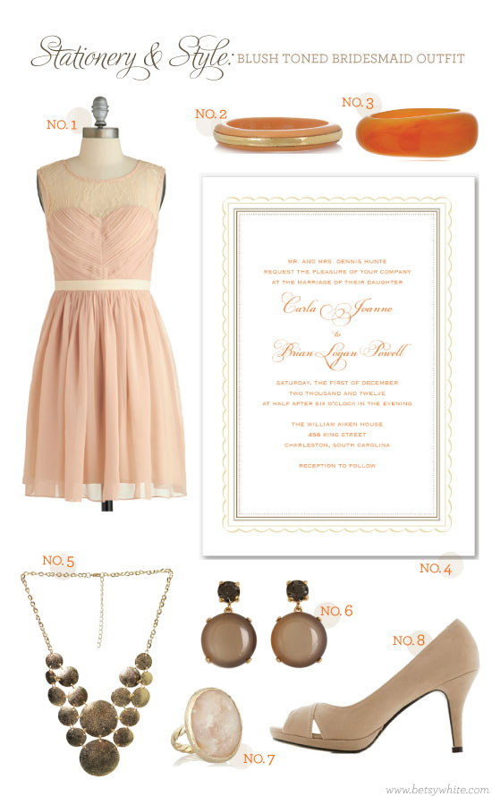 Stationery & Style: Blush Toned Bridesmaid Outift