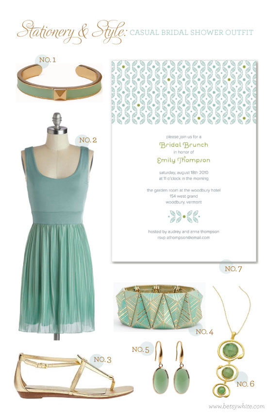 Stationery & Style: Casual Bridesmaid Outfit