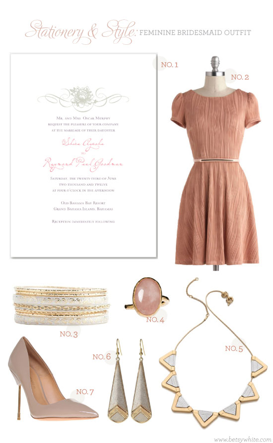 Stationery & Style: Feminine Bridesmaid Outfit