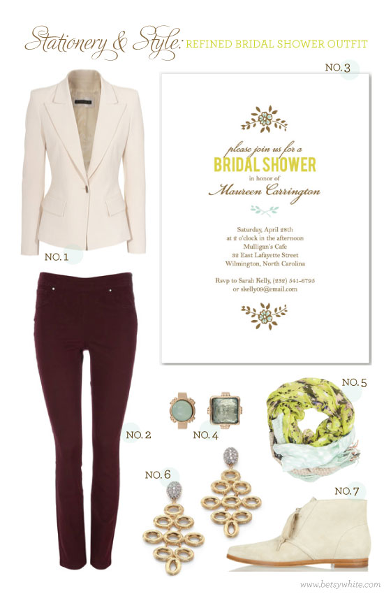 Stationery & Style: Refined Bridal Shower Outfit