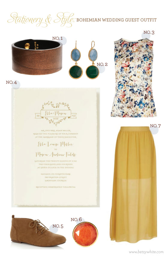 Stationery & Style: Bohemian Wedding Guest Outfit