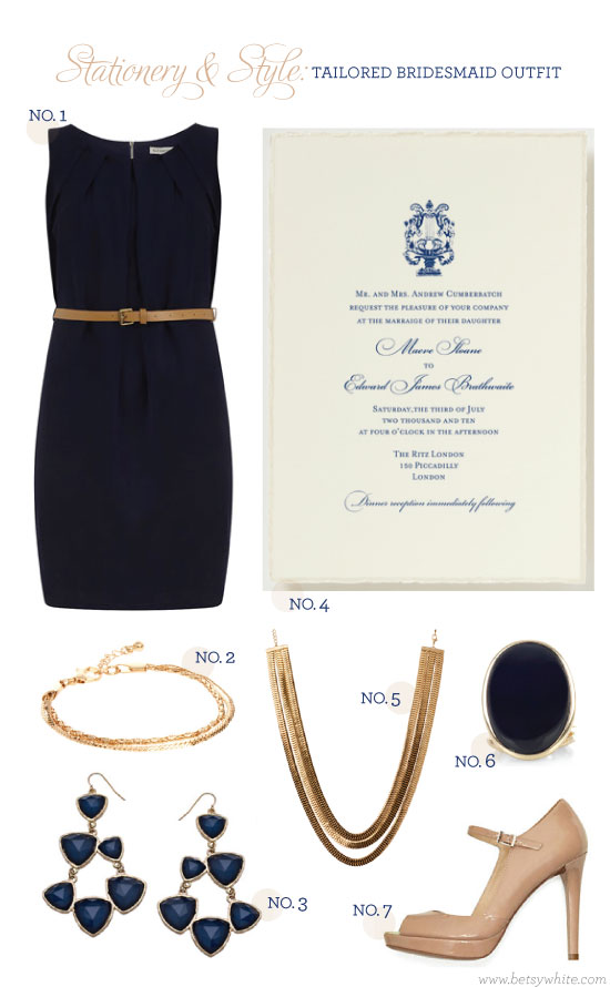 Stationery & Style: Tailored Bridesmaid Outfit