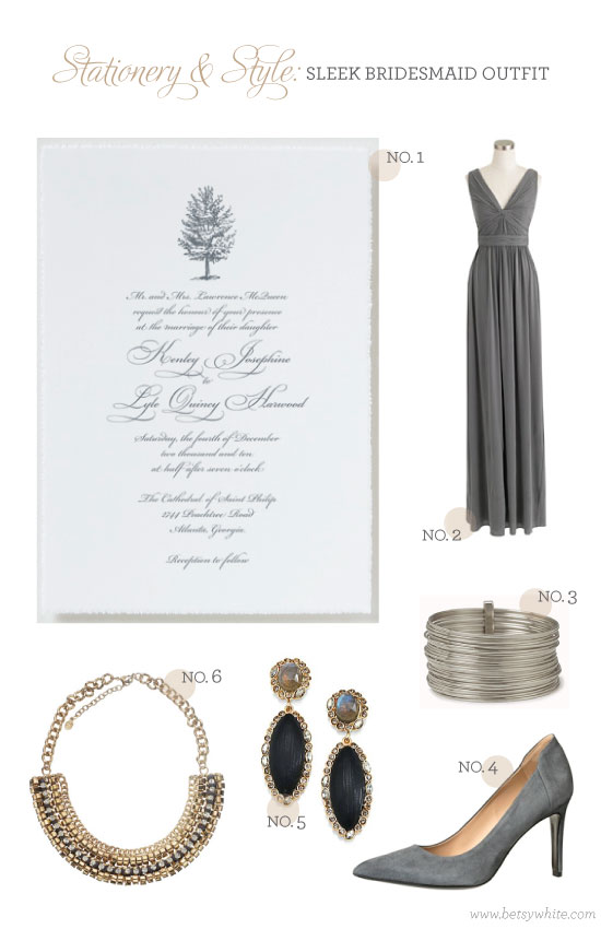 Stationery & Style: Sleek Bridesmaid Outfit