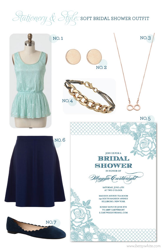 Stationery & Style: Soft Bridal Shower Outfit