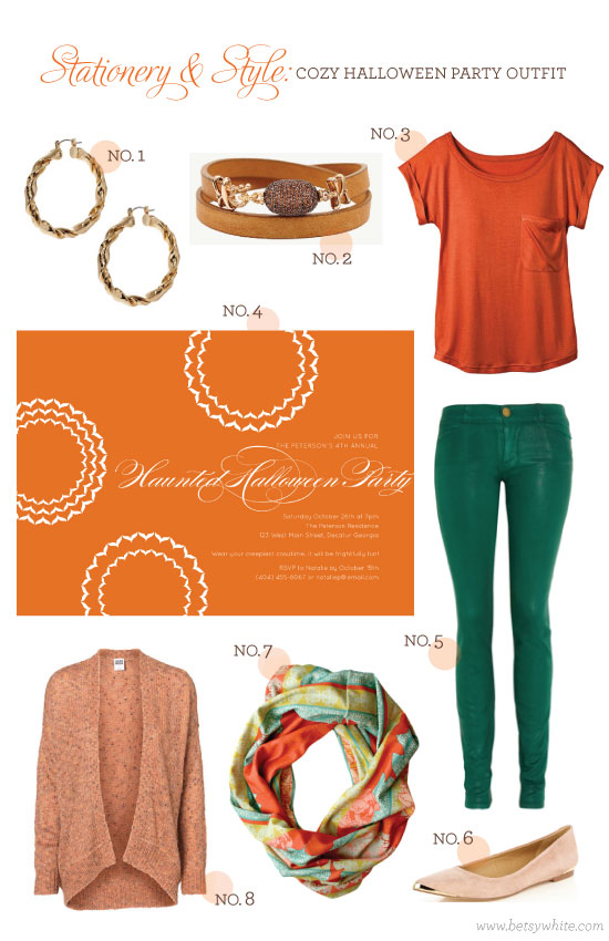 Stationery & Style: Cozy Halloween Party Outfit