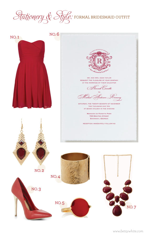 Stationery & Style: Formal Bridesmaid Outfit