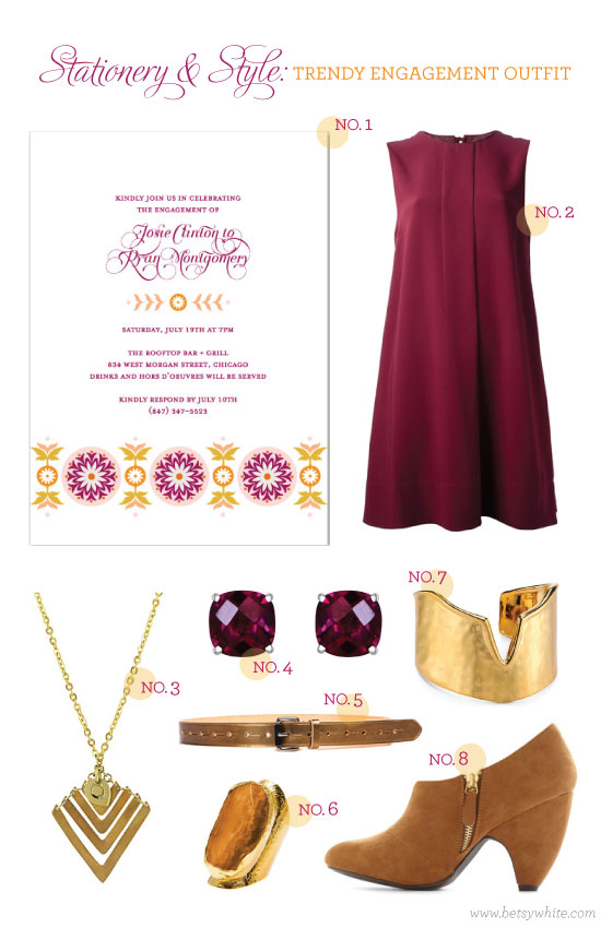 Stationery & Style: Trendy Engagement Outfit