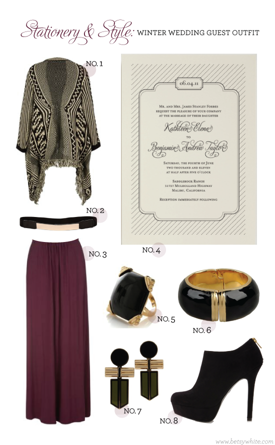 Stationery & Style: Winter Wedding Guest Outfit