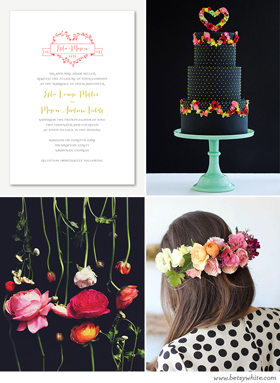 Black and Bright Floral