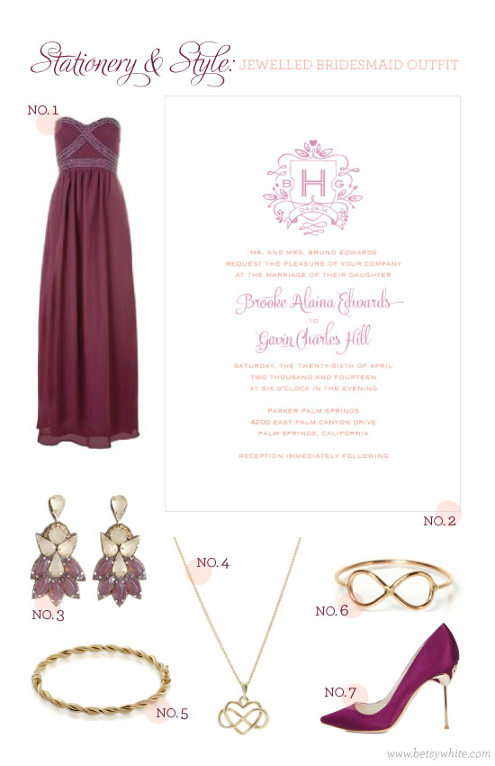 Stationery & Style: Jewelled Bridesmaid Outfit