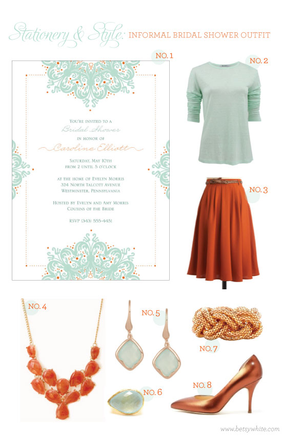 Stationery & Style: Informal Bridal Shower Outfit