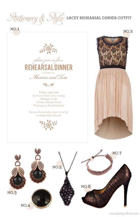 Stationery & Style: Lacey Rehearsal Dinner Outfit