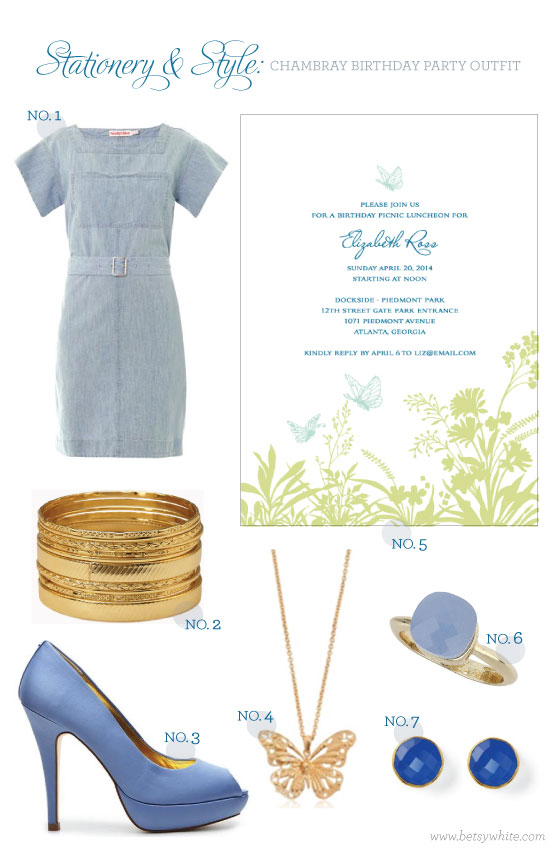 Stationery & Style: Chambray Birthday Party Outfit