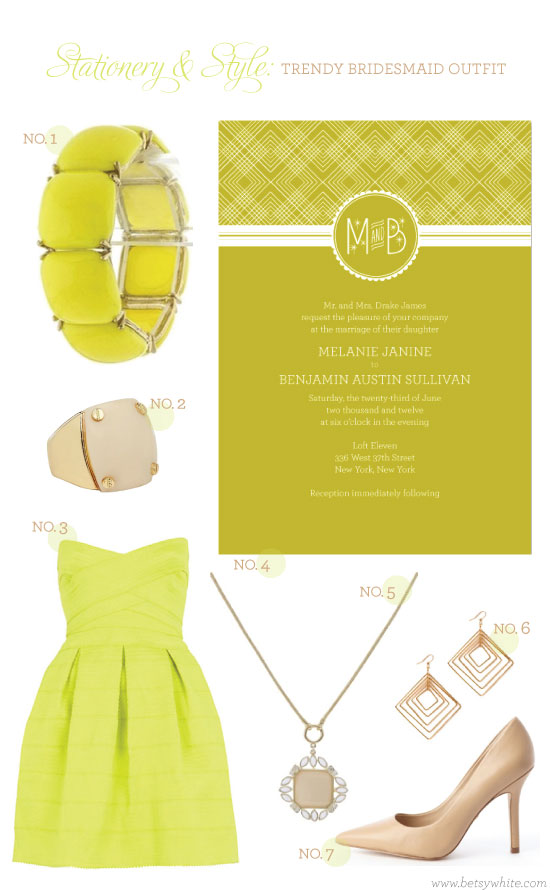 Stationery & Style: Trendy Bridesmaid Outfit