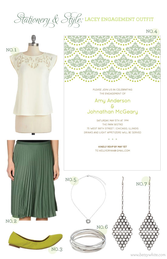 Stationery & Style: Lacey Engagement Outfit