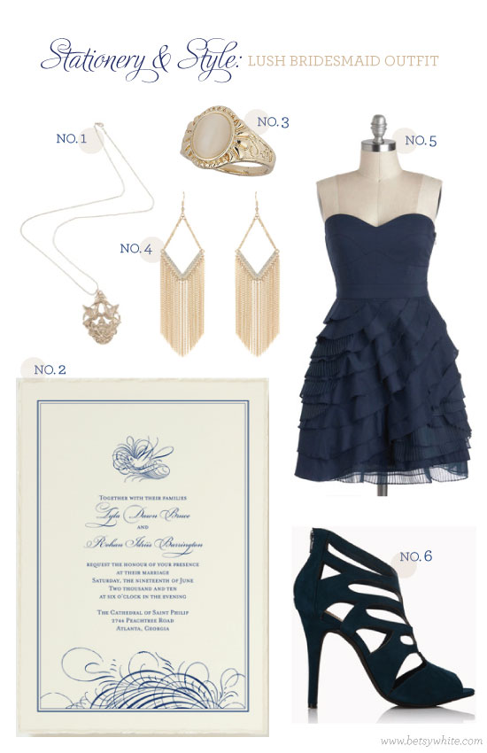 Stationery & Style: Lush Bridesmaid Outfit