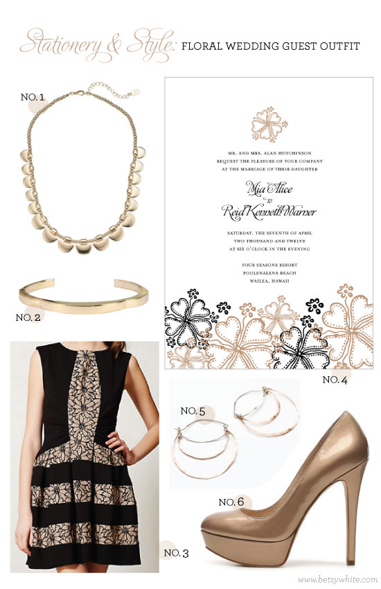 Stationery & Style: Floral Wedding Guest Outfit