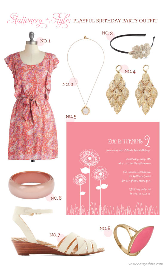 Stationery + Style: Playful Birthday Party Outfit