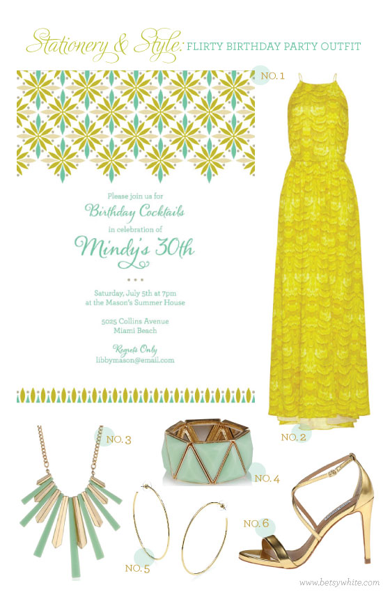 Stationery & Style: Flirty Birthday Party Outfit