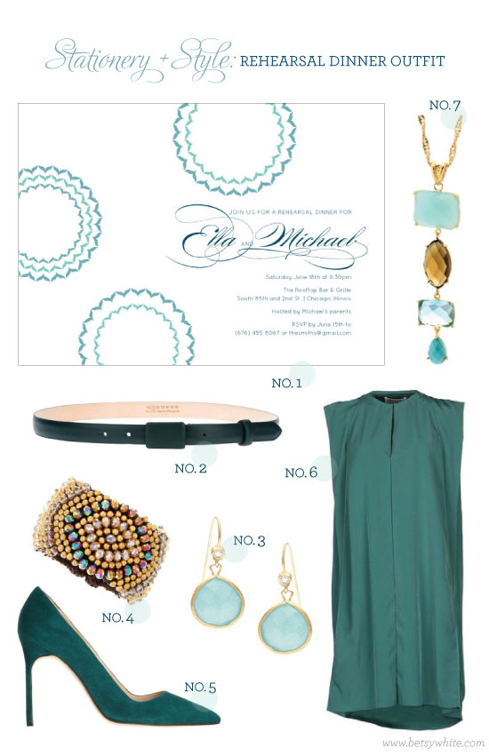 Stationery + Style: Rehearsal Dinner Outfit