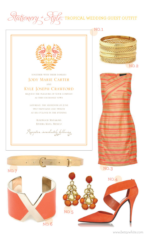 Stationery + Style: Tropical Wedding Guest Outfit