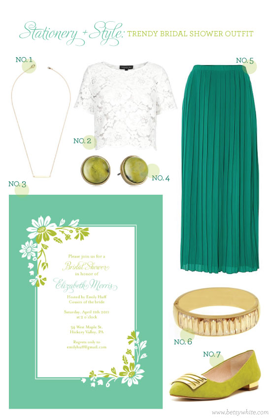 Stationery + Style: Trendy Bridal Shower Outfit