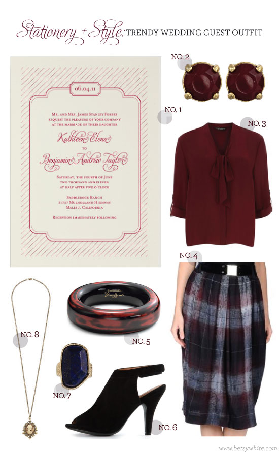 Stationery + Style: Trendy Wedding Guest Outfit