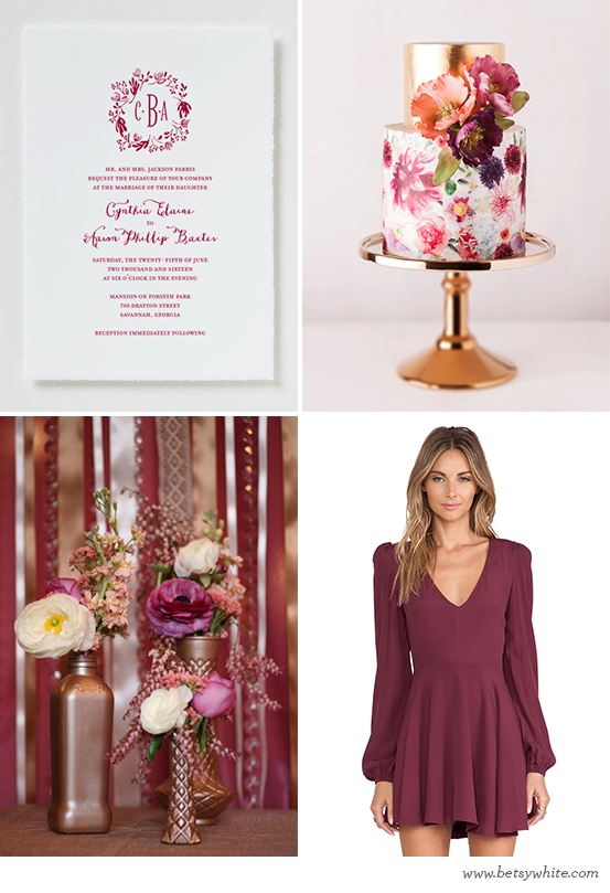 Berry and Copper Soiree